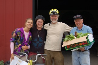 Farmer Don Kruger, right (next to Jan, Matt, Jane)